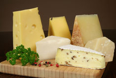 Cheese board Royalty Free Stock Image