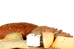 Cheese board and bread Stock Photo