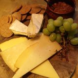 Cheese board at Darcy& x27;s Royalty Free Stock Photo