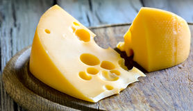 Cheese on a board Royalty Free Stock Photo