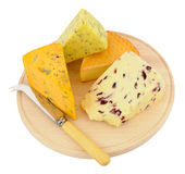 Cheese Board With Mixed Cheeses Royalty Free Stock Image