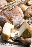 Cheese and Bread Royalty Free Stock Photography