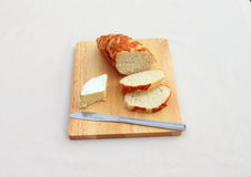 Cheese on Bread Stock Images