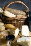 Cheese and Bread 2 Stock Photo