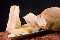 Cheese and bread Royalty Free Stock Image