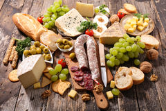 Cheese and bread Royalty Free Stock Photos