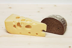 Cheese with bread Royalty Free Stock Photo