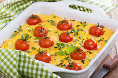 Cheese and bread breakfast bake Royalty Free Stock Photography