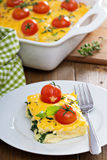 Cheese and bread breakfast bake Stock Images