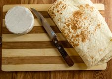 Cheese and bread Stock Photos