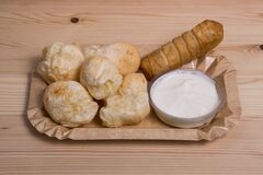 Free Cheese Bread Known As Pan De Yuca And Tequeno Stock Photos - 203022263