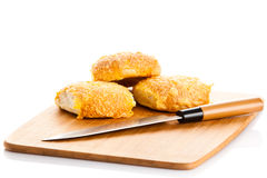 Cheese bread roll isolatedon white background buns Stock Photo