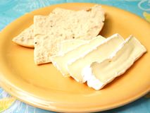 Cheese with bread Royalty Free Stock Photography