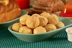 Golden cheese breads balls Royalty Free Stock Photo