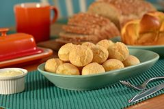 Golden cheese breads balls Royalty Free Stock Image