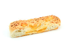 Cheese breadstick. Isolated on white background in horizontal format Stock Photos