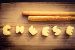 Cheese and breadsticks Royalty Free Stock Photos