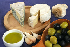 Cheese breakfast Stock Images