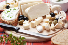 Cheese for breakfast Royalty Free Stock Photo