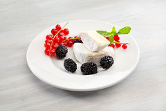 Cheese brie on a dish Royalty Free Stock Photo