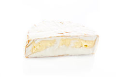 Cheese brie isolated on white background. camambert Royalty Free Stock Image