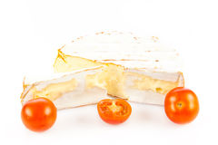 Cheese brie isolated on white background. camambert food Royalty Free Stock Photo