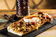Cheese bruschetta Royalty Free Stock Photo