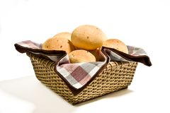Cheese bun basket Royalty Free Stock Photography