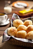 Cheese bun breakfast Royalty Free Stock Images