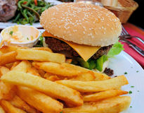 Cheese burger Stock Photography