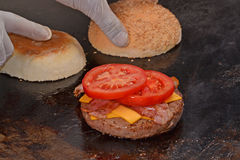 Cheese burger Stock Image