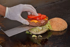 Cheese burger Stock Image