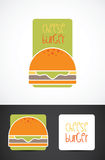 Cheese burger illustration Royalty Free Stock Images