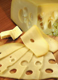 Cheese, butter and grapes Royalty Free Stock Image