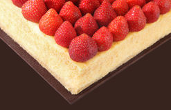 Cheese Cake. Strawberry cheese cake is suitable coffee time ** Note: Shallow depth of field Stock Images