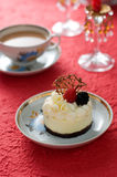 Cheese cake. Chill out with cheese cake  serve with coffee Stock Photography