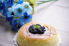 Cheese cake. I love cheese cake Mulberry jam royalty free stock images