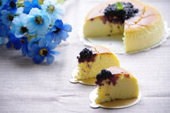 Cheese cake. I love cheese cake Mulberry jam royalty free stock photography