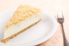 Cheese cake. A classic cheese cake served Stock Image