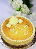Cheese Cake. With beautiful decoration royalty free stock photos