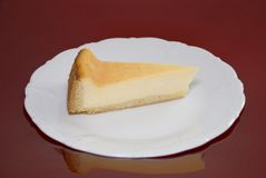 Cheese cake. Fresh cheese cake on a plate Royalty Free Stock Images