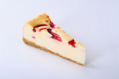 Cheese cake berry sause Stock Photos
