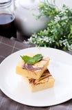 Cheese cake brownies Stock Image