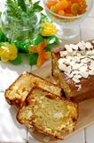 Cheese cake with candied fruits Stock Image