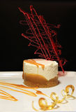 Cheese cake caramel Stock Photography