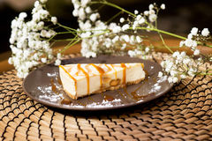 Cheese cake, cheesecake on the plate. Tasty, delicious Royalty Free Stock Photo