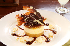 Cheese Cake With Chocolate Stock Images