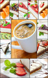 Cheese cake collage Royalty Free Stock Photo