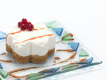 Cheese cake with cranberries Royalty Free Stock Image