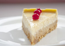 Cheese cake with cranberries Royalty Free Stock Photo